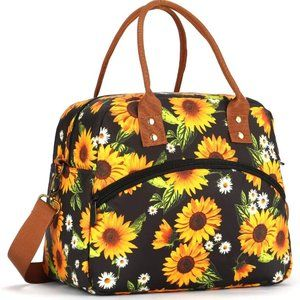 Leakproof Insulated Lunch Bag - Sunflowers